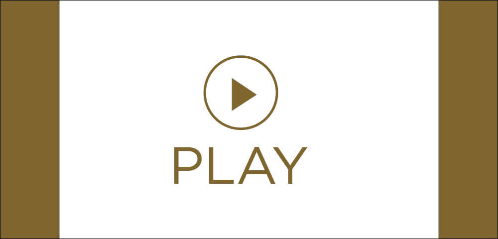 A play button symbol with the word play underneath it